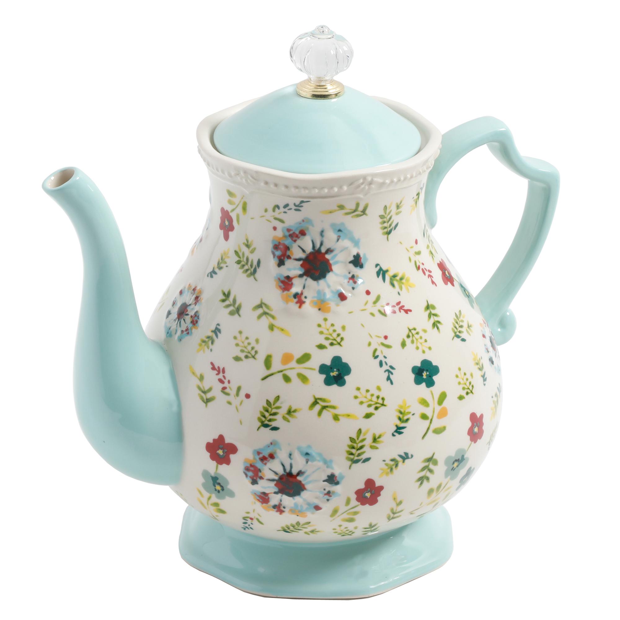 Beige 6 Cup Teapot cer/ámica Tetera de Royal Botanical Gardens